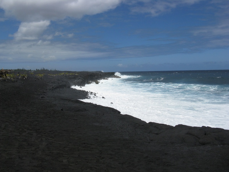 Black Sand Beach - Kalapana